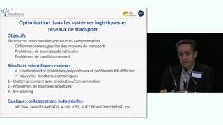 Optimisation des systèmes logistiques et réseaux de transport