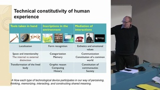 PHITECO 2013 - Technical constitutively of human experience: Minimalist approach for a dialogue between phenomenology, enact ion and technology.