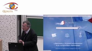 """Qualita 2013 - """"Diplomatie"""" : le portail interministériel de la correspondance diplomatique"""