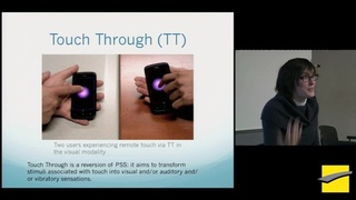 PHITECO 2013 - Touch Through : distal touch vs proximal touch