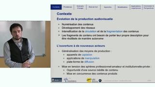 Description sémantique de documents audiovisuels structurés