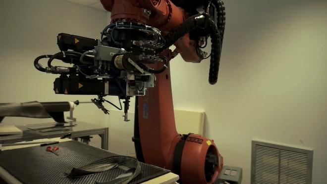 Le robot Kuka et la couture des structures composites