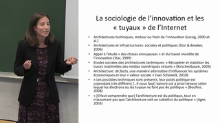"""Séminaire """"Innovation et Numérique"""", intervention de Francesca Musiani"""