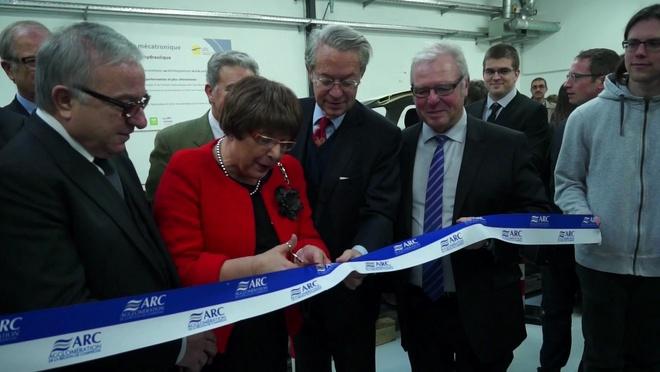 Inauguration de la plateforme hydraulique de l'institut de Mécatronique