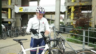 Alphanie Midelet, utécéenne et championne de cyclisme