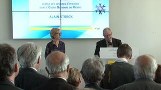 Remise des insignes d'Officier dans l'Ordre National du Mérite à Alain Storck, Président de l'UTC