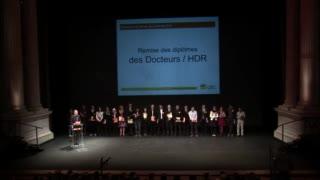 Docteurs/HDR - Cérémonie de remise des diplômes 2015