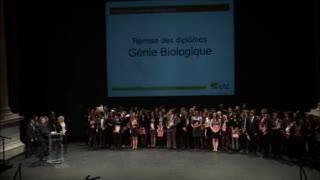 Génie Biologique - Cérémonie de remise des diplômes 2015