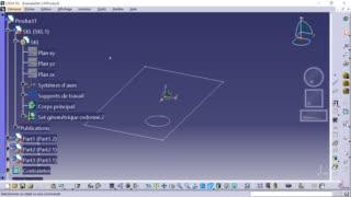 Méthodologie squelette CATIA 03 - Répartition des informations du squelette dans les pièces