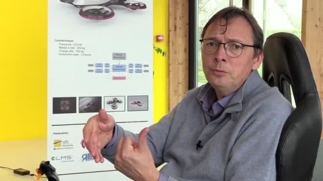 Un drone à transmission hydraulique à l'UTC