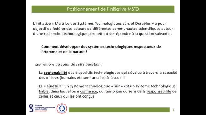 Présentation initiative MSTD